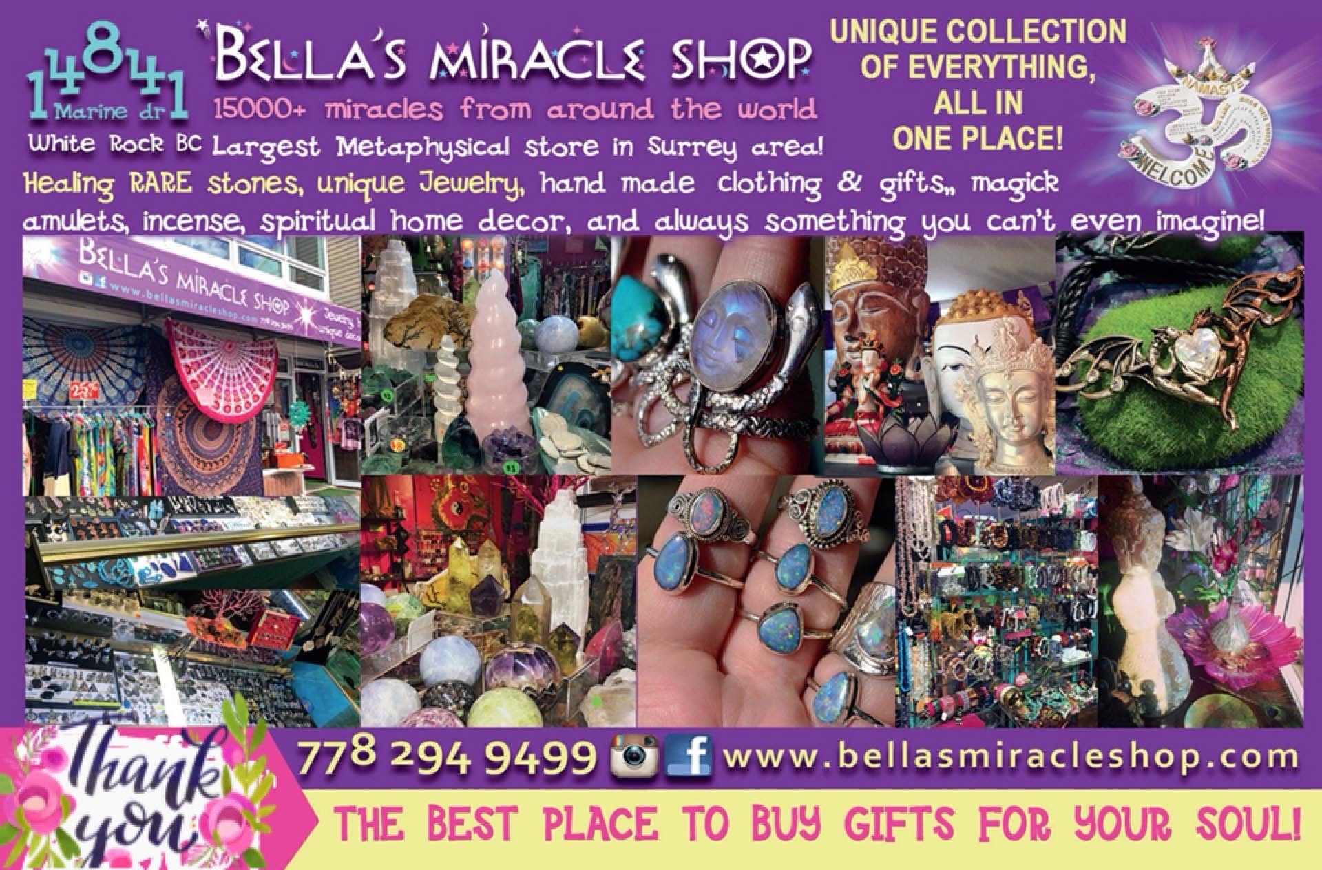Contact info/Hours | BELLA'S MIRACLE SHOP